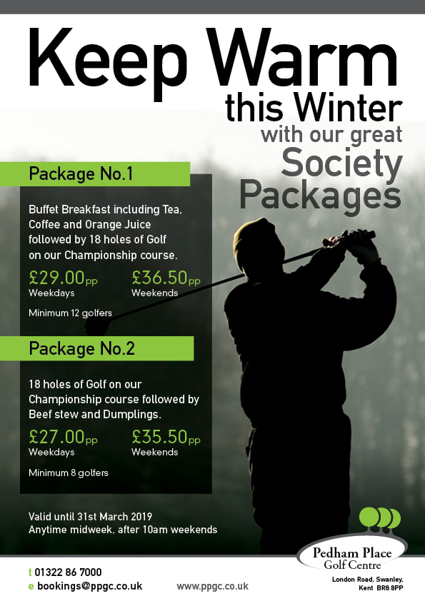 Keep Warm this Winter with our great Society Packages